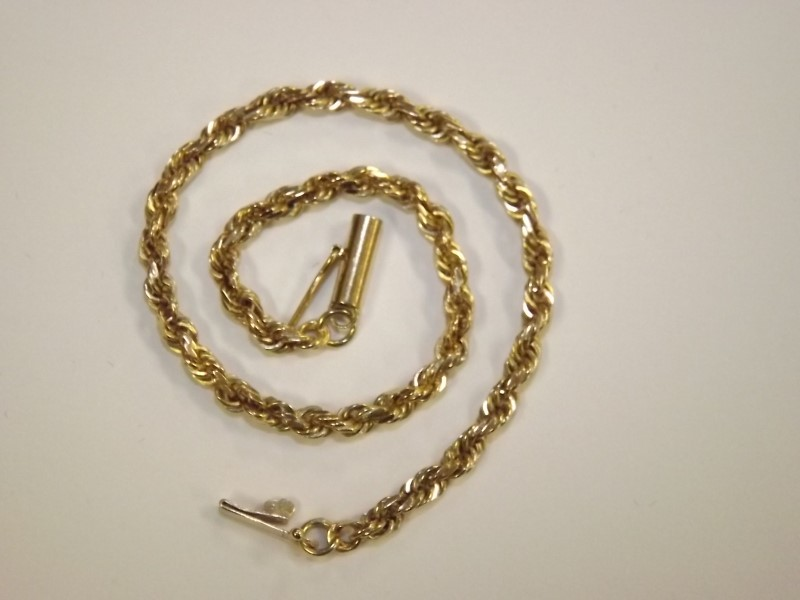 Gold Rope Bracelet 14K Yellow Gold 5.29g