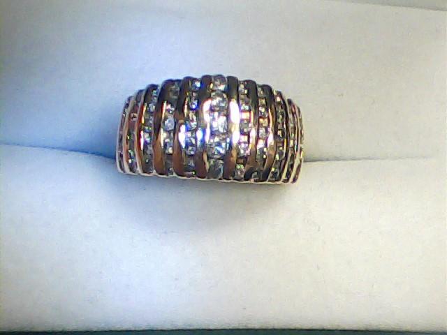 Lady's Gold-Diamond Anniversary Ring 55 Diamonds 1.25 Carat T.W.