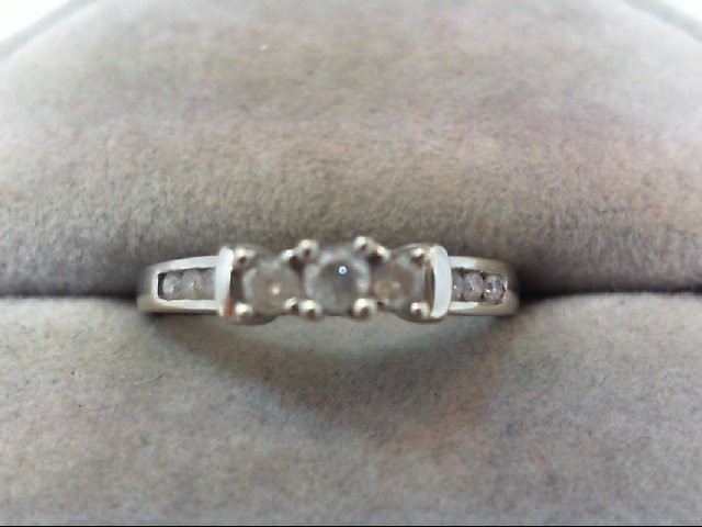 Lady's Diamond Wedding Set 9 Diamonds .29 Carat T.W. 10K White Gold 1.9g