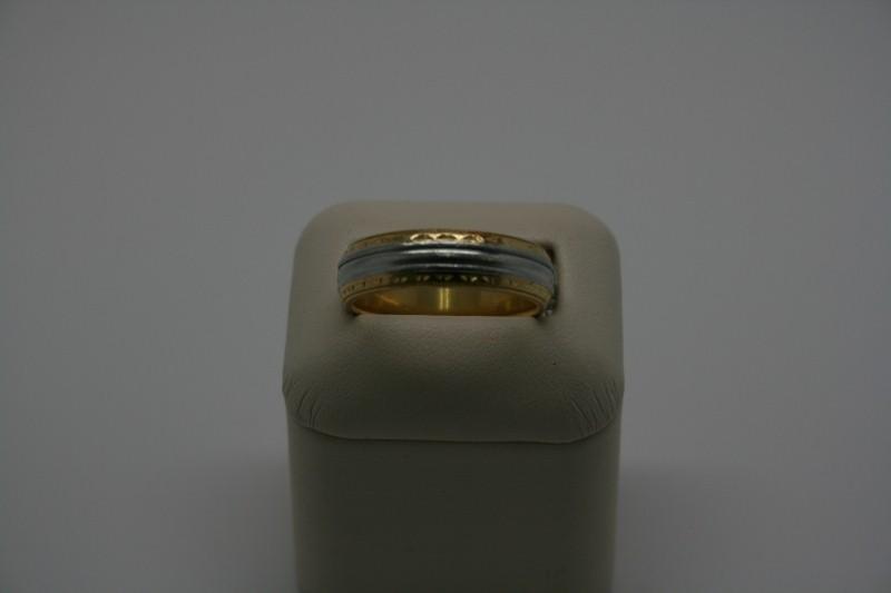 GENT'S GOLD 2TONE BAND 12.0G 18K & PLATINUM SIZE 10