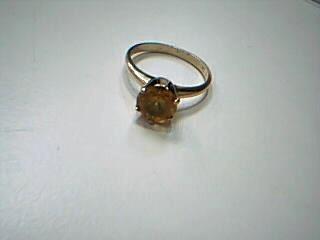 Yellow Stone Lady's Stone Ring 14K Yellow Gold 1.5g