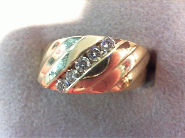 Gent's Diamond Fashion Ring 5 Diamonds .20 Carat T.W. 14K Yellow Gold 5.6g