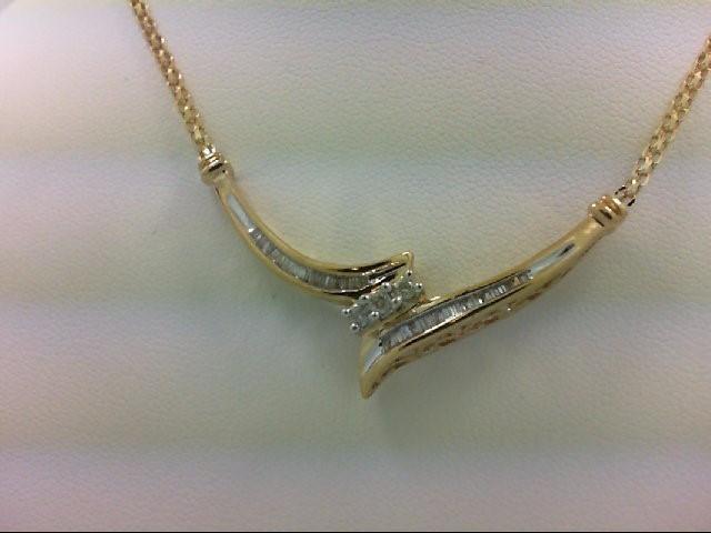Gold-Multi-Diamond Pendant 37 Diamonds 0.45 Carat T.W. 10K Yellow Gold 5g