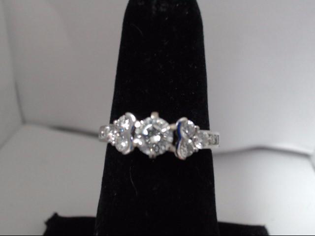 Lady's Diamond Wedding Band 13 Diamonds 1.00 Carat T.W. 14K White Gold 4.3g
