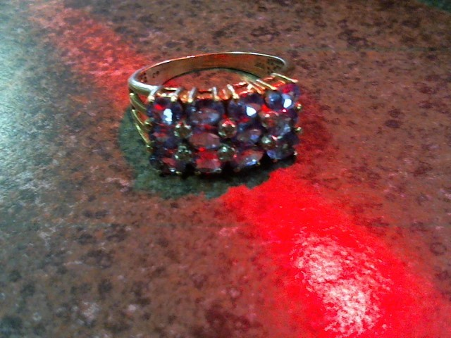 Lady's Stone & Diamond Ring 6 Diamonds .06 Carat T.W.