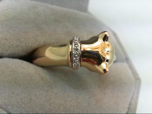 Lady's Diamond Fashion Ring .01 CT. 10K 2 Tone Gold 1.9g