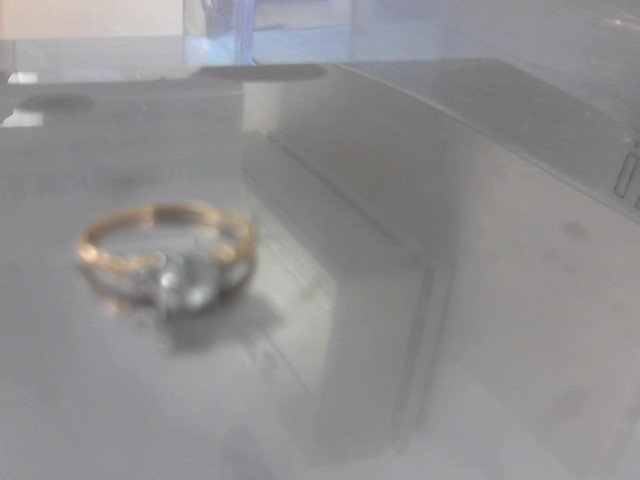 Synthetic Cubic Zirconia Lady's Stone & Diamond Ring 2 Diamonds .02 Carat T.W.