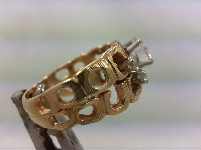 Lady's Diamond Wedding Set 6 Diamonds 1.00 Carat T.W. 14K Yellow Gold 6.14g
