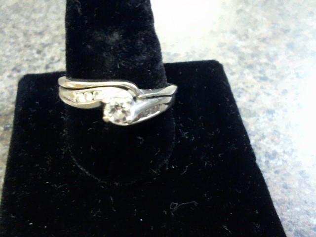 Lady's Diamond Wedding Set 7 Diamonds .43 Carat T.W. 14K White Gold 6.3g