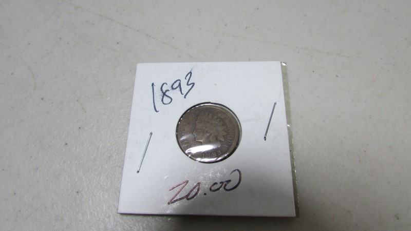 1893 INDIAN HEAD PENNY ONE CENT