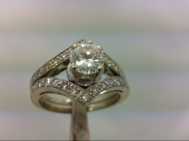 Lady's Diamond Wedding Set 27 Diamonds 1.25 Carat T.W. 18K White Gold 7.41g