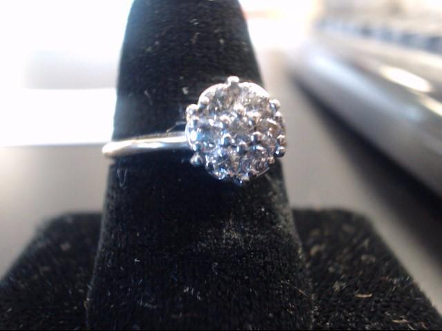 Diamond Cluster Ring 7 Diamonds 14K Yellow Gold