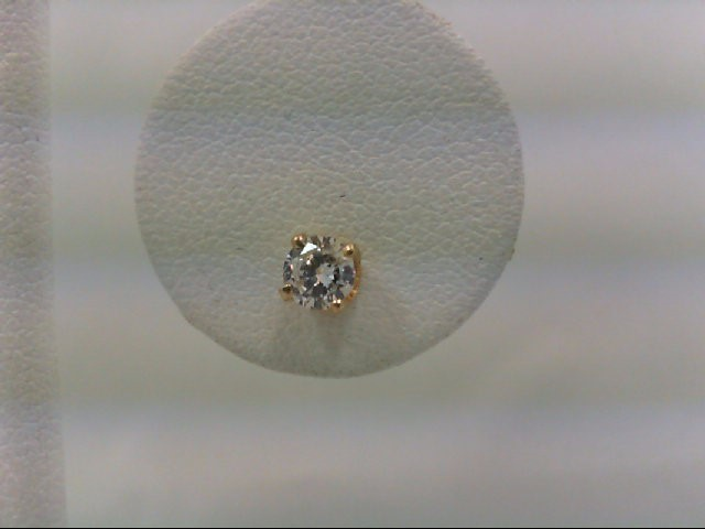 Gold-Diamond Earrings 0.22 CT. 14K Yellow Gold 0.5g