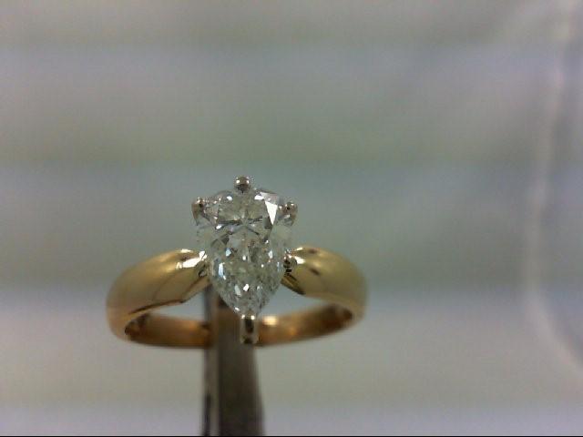 Lady's Diamond Engagement Ring 1.21 CT. 14K Yellow Gold 4.18g
