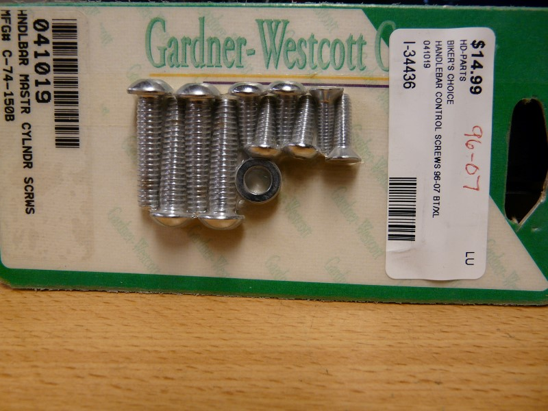 BIKER'S CHOICE 041019; HANDLEBAR CONTROL SCREW