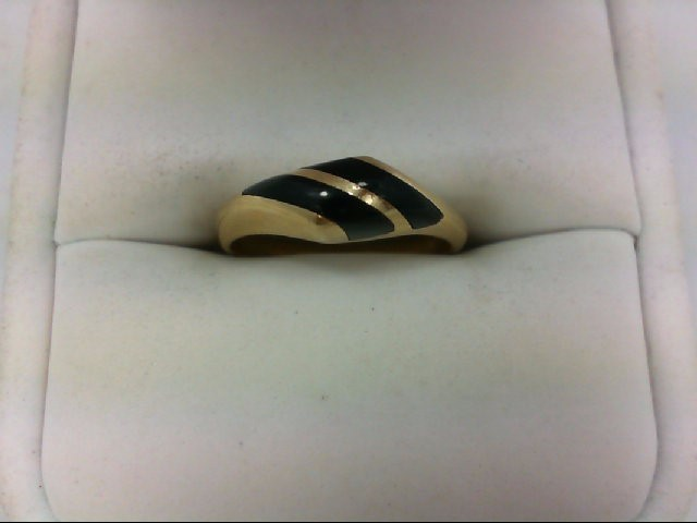 Lady's Gold Ring 14K Yellow Gold 3.1g Size:6.75