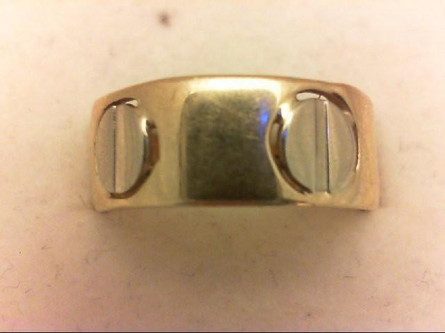 Lady's Gold Wedding Band 14K 2 Tone Gold 4.4g