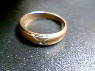 Gent's Gold-Diamond Wedding Band .05 CT. 14K Yellow Gold 6.6g