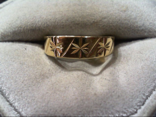 Lady's Gold Wedding Band 10K Yellow Gold 2.2g Size:8.5