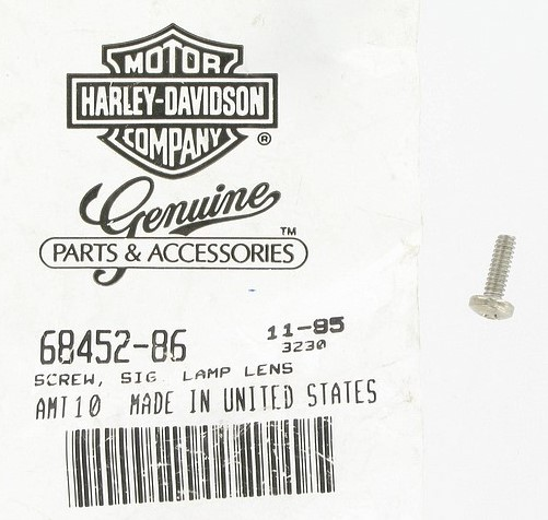 HARLEY DAVIDSON 68452-86,  TURN SIGNAL SCREW ** SOLD BY 1 EACH**
