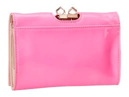 TED BAKER LINNER PINK PATENT LEATHER CLUTCH SHOULDER BAG