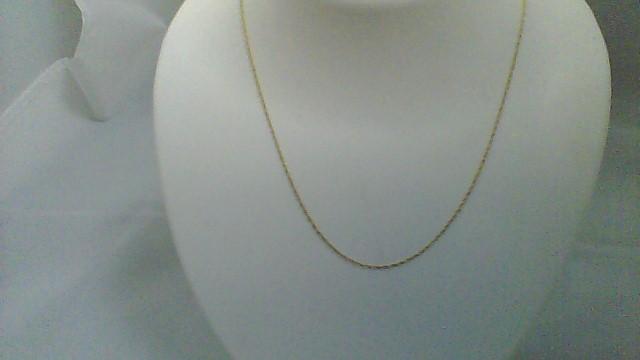 Gold Chain 10K Yellow Gold 0.65g