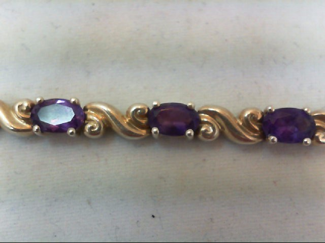 Amethyst Silver-Stone Bracelet 925 Silver 12.2g