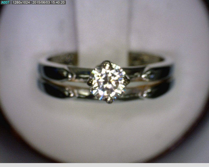 Lady's Diamond Solitaire Ring .36 CT. 18K White Gold 2.6dwt Size:5