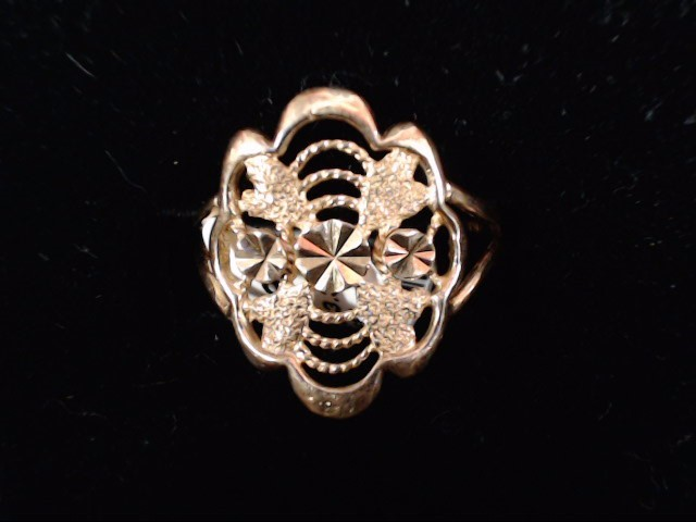 Lady's Gold Ring 22K Yellow Gold 3.3g Size:8