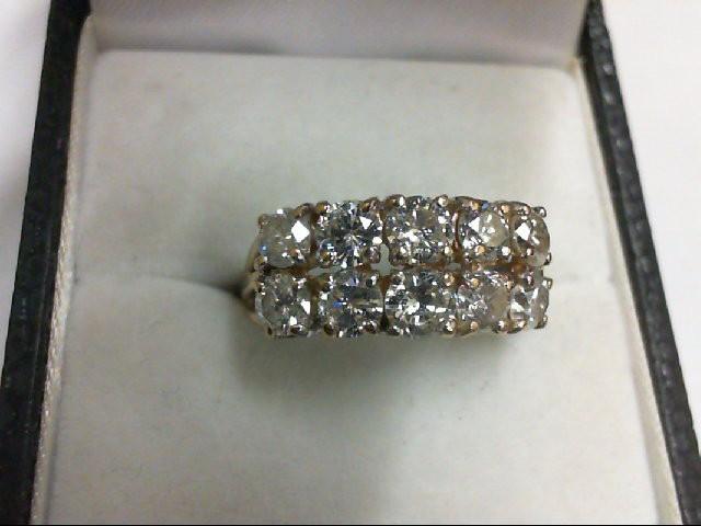 Lady's Diamond Cluster Ring 10 Diamonds 1.6 Carat T.W. 14K Yellow Gold 4.2g