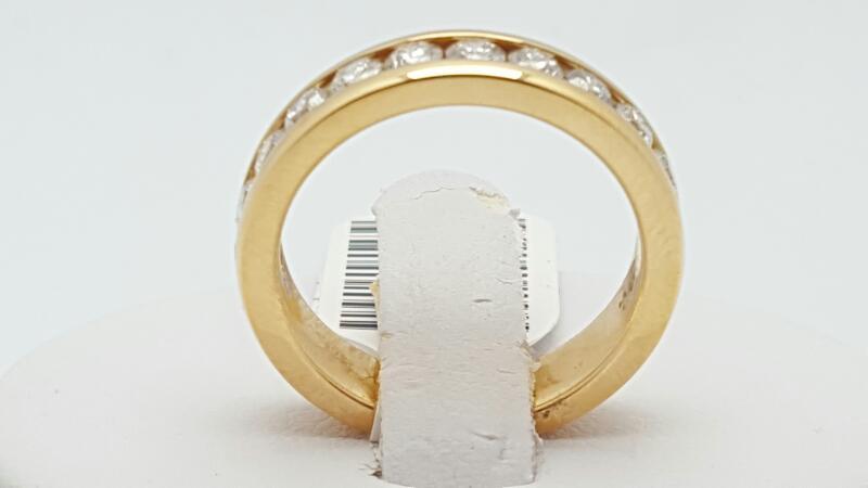 Lady's Gold-Diamond Anniversary Ring 11 Diamonds 1.02 Carat T.W. 14K Yellow Gold