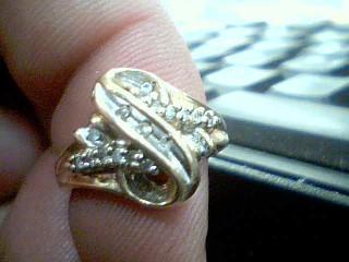 White Stone Lady's Stone & Diamond Ring 16 Diamonds .16 Carat T.W.