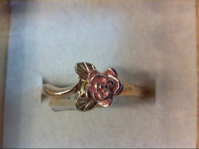 Lady's Gold Ring 10K 2 Tone Gold 2.5g