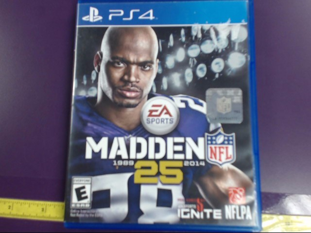 MADDEN NFL 25 FOR PLAYSTATION-4, GOOD CONDITION.