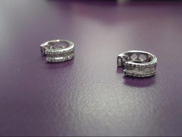 Gold-Diamond Earrings 52 Diamonds 0.52 Carat T.W. 14K White Gold 2.8g