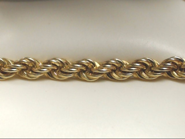 """25"""" Gold Rope Chain 10K Yellow Gold 33g"""