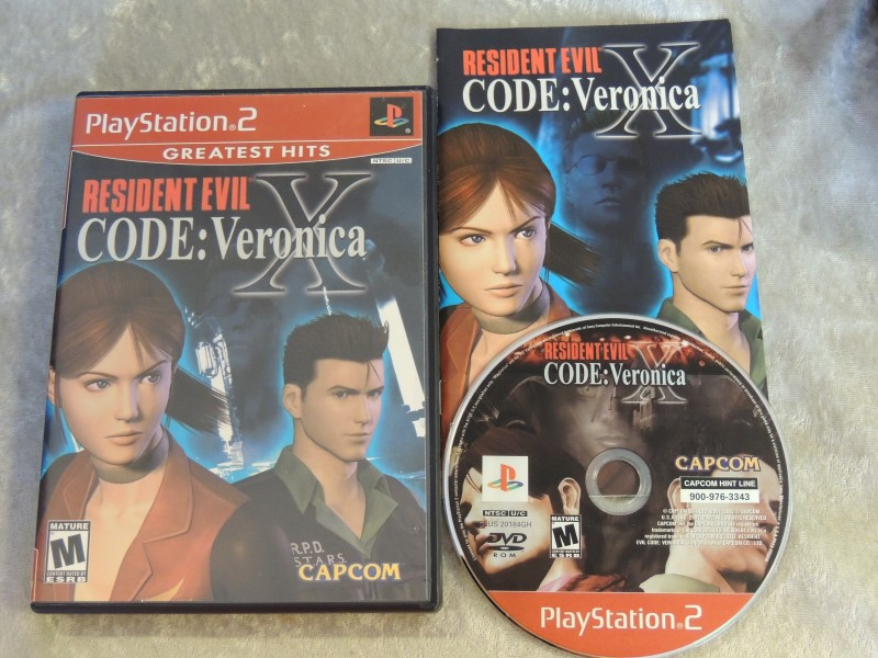 SONY PS2 GAME RESIDENT EVIL CODE VERONICA
