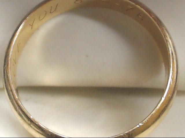 Gent's Gold Wedding Band 14K Yellow Gold 5.5g Size:11