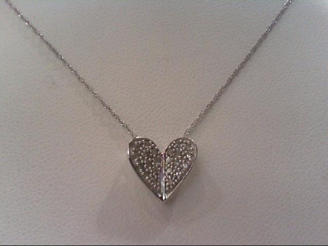 Gold-Multi-Diamond Pendant 22 Diamonds .22 Carat T.W. 10K White Gold 1.3g