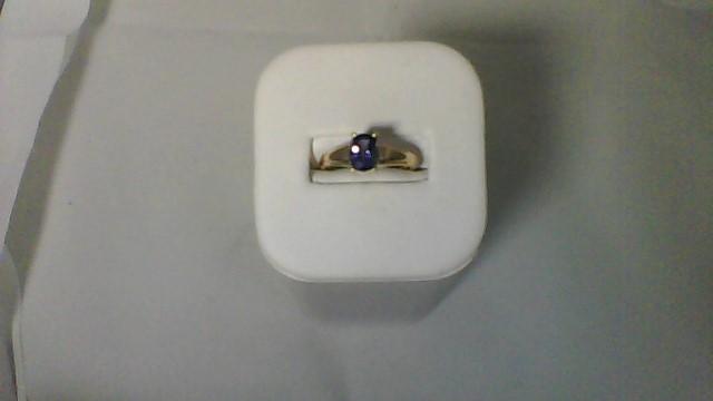 Tanzanite Lady's Stone Ring 10K Yellow Gold 2.6g