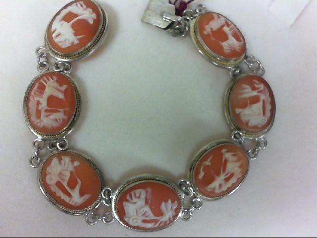 Cameo Silver-Stone Bracelet 900 Silver 16.3g