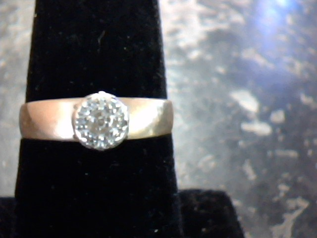 Synthetic Red Bixbite Beryl Lady's Stone & Diamond Ring