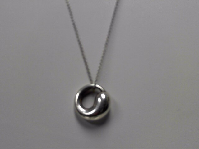 "Tiffany & Co. Sterling Silver Elsa Peretti Pendant with 20"" Chain 7.74g"