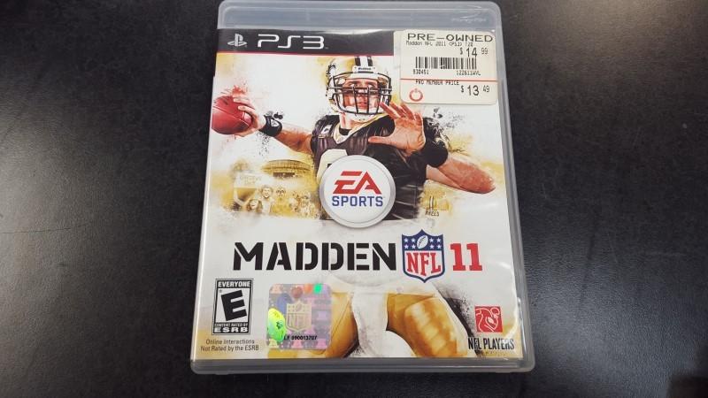 SONY Sony PlayStation 3 Game MADDEN NFL 11