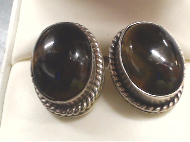 Synthetic Agate Silver-Stone Earrings 925 Silver 14.9g