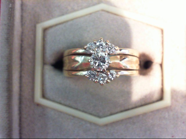 Lady's Diamond Wedding Set 7 Diamonds .51 Carat T.W. 14K Yellow Gold 5.3g
