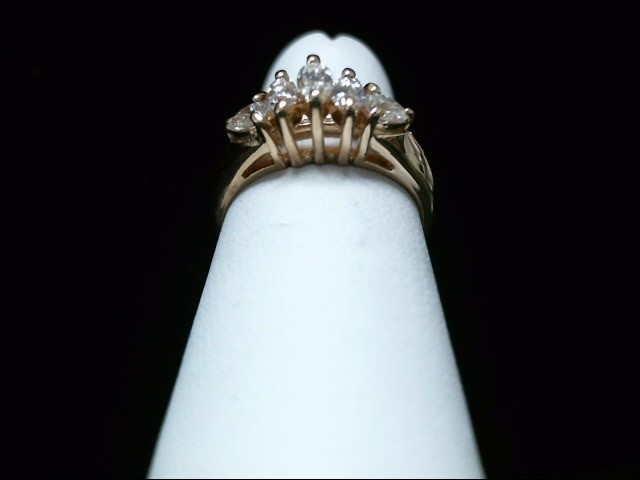 Lady's Diamond Fashion Ring 5 Diamonds .45 Carat T.W. 14K Yellow Gold 3.6g