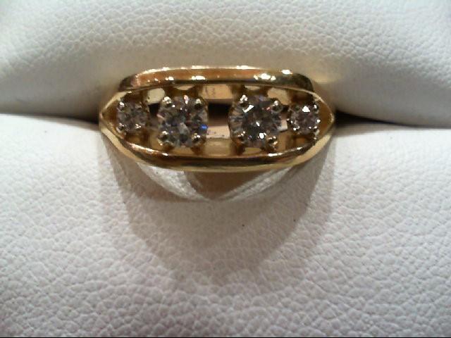Lady's Diamond Wedding Band 4 Diamonds .48 Carat T.W. 14K Yellow Gold 5g