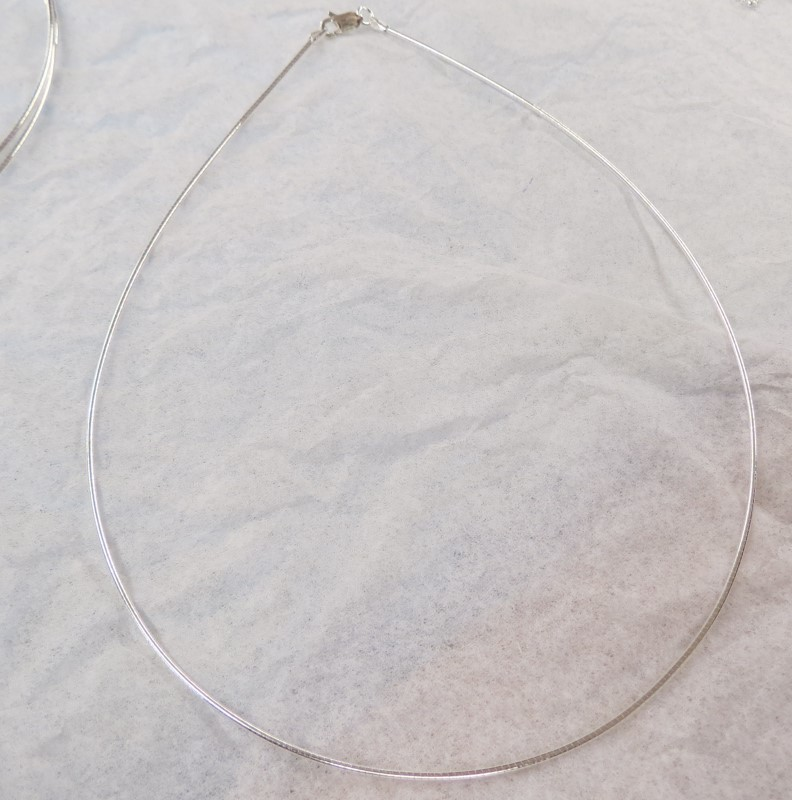 "18"" Silver .925 CORD NECKLACE/CHAIN"