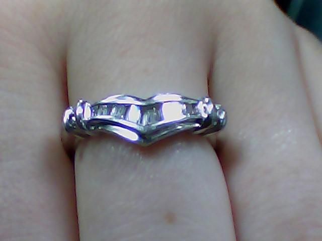 Lady's Diamond Fashion Ring 16 Diamonds .62 Carat T.W. 10K White Gold 2.7g
